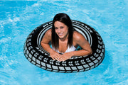 (6) Intex Giant Tire Tube Inflatable Water Swimming Pool Ring Float Raft Lounger