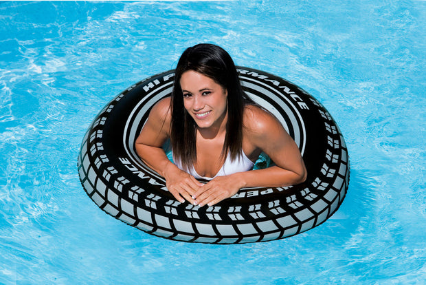 (4) Intex Giant Tire Tube Inflatable Water Swimming Pool Ring Float Raft Lounger