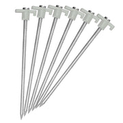 "6 Pack Heavy Duty 10"" Tent Stakes Glow-in-the-Dark!"