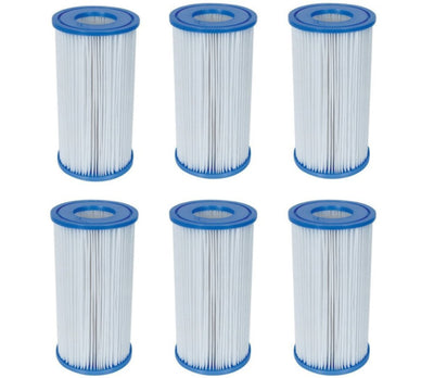 6 Pack Bestway Type III A/C Filter Cartridge for 1000 & 1500 GPH Filter Pumps