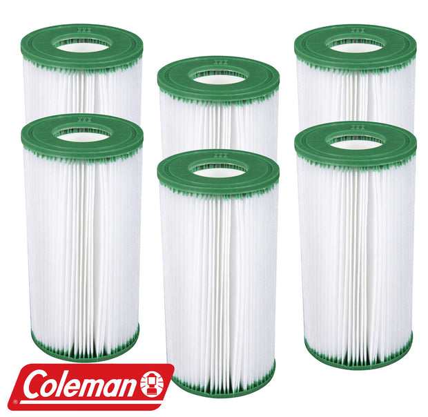 6 Pack Coleman Type III A/C Filter Cartridge for 1000 & 1500 GPH Filter Pumps