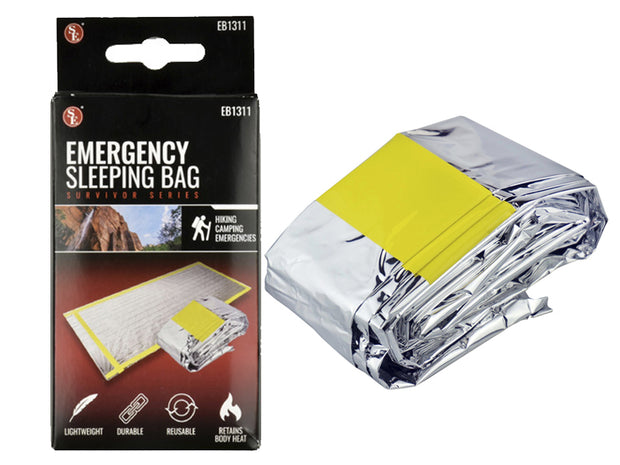 "10 Pack Emergency Mylar Solar Sleeping Bag 84"" x 36"""