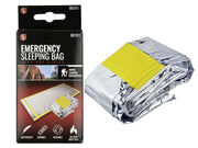 "3 Pack Emergency Mylar Solar Sleeping Bag 84"" x 36"""