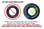 Heavy Duty Rubber Snow Tube | River Tube, Sledding Float | Pool Closing Inner Tube | Truck Inner Tubes