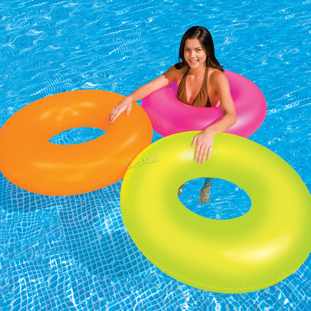 Intex Neon Frost Tube Inflatable Swimming Pool Float Raft Ring