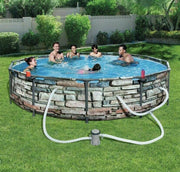 "Bestway 12' x 30"" Steel Pro Max Frame Above Ground Pool"