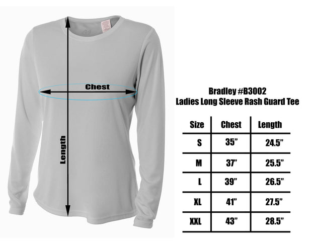 Bradley Women's Casual Fit Long Sleeve Rash Guard Swim Shirt with UV Protection