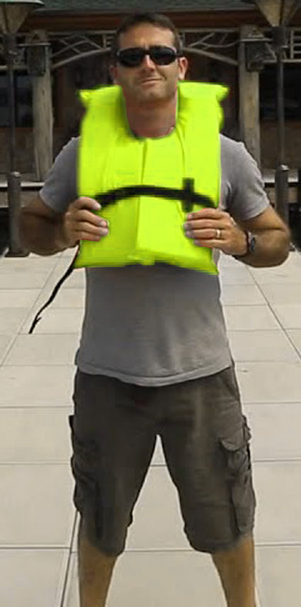4 Pack Type II Neon Yellow Life Jacket Vest - Adult Universal Boating PFD