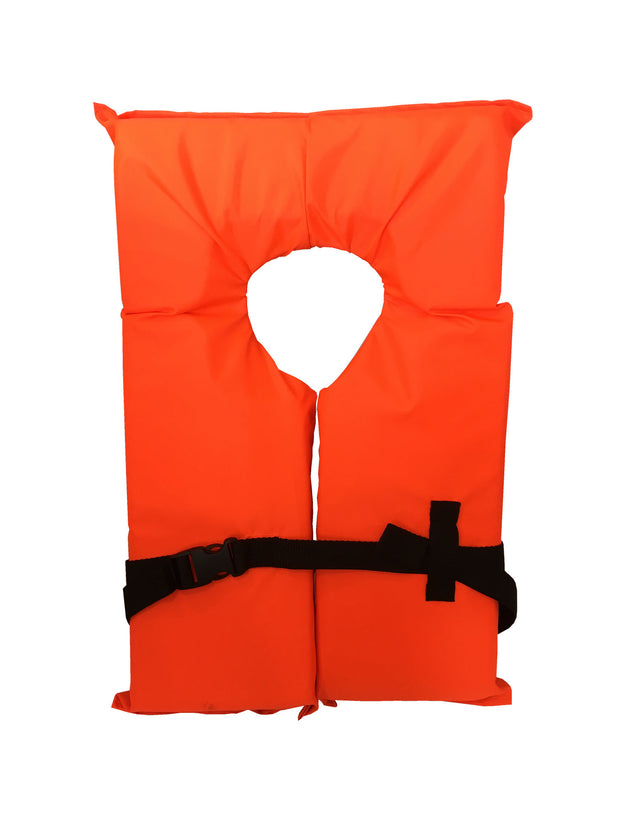 Type II Neon Orange Life Jacket Vest - Adult Universal Boating PFD