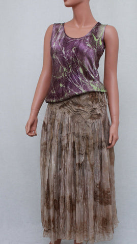 Nuno Felted Silk Skirt