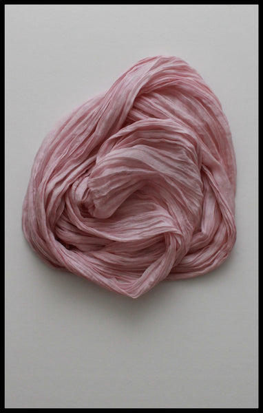 Crinkle Long Silk Scarf