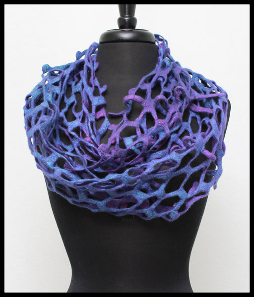 Felted Net Scarf