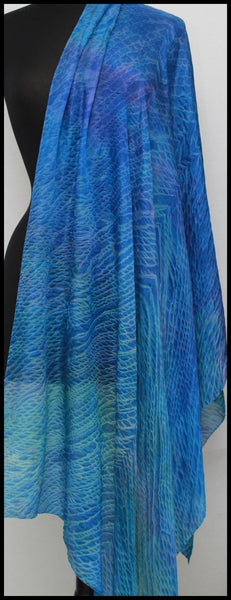 Shibori Long Silk Scarf