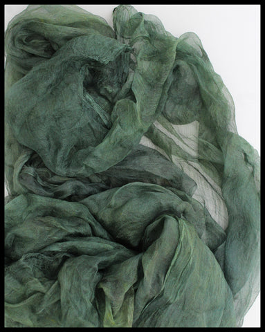 GREEN MARGILAN SILK