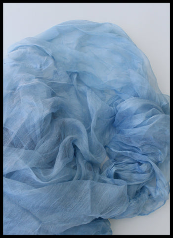 BLUE MARGILAN SILK