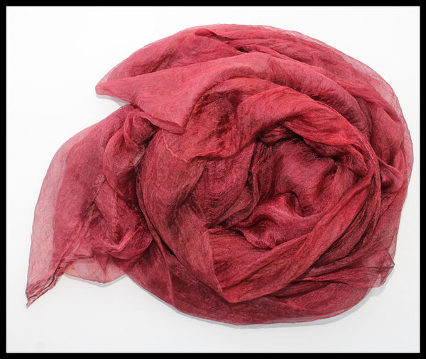 RED MARGILAN SILK