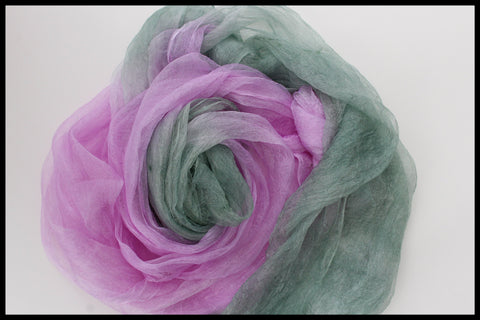PINK green MARGILAN SILK