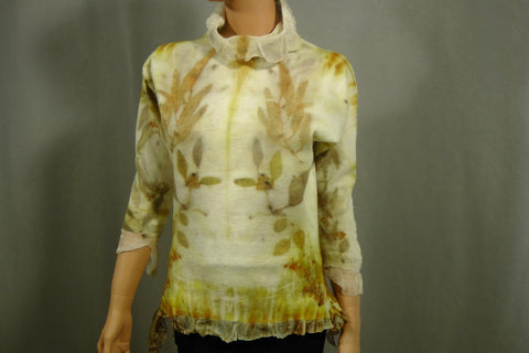 SALE Lightweight  Nuno felted sweater  top  Gift for Her