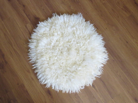 Cat bed- mat Raw Fleece Pet Mat Felted Rug
