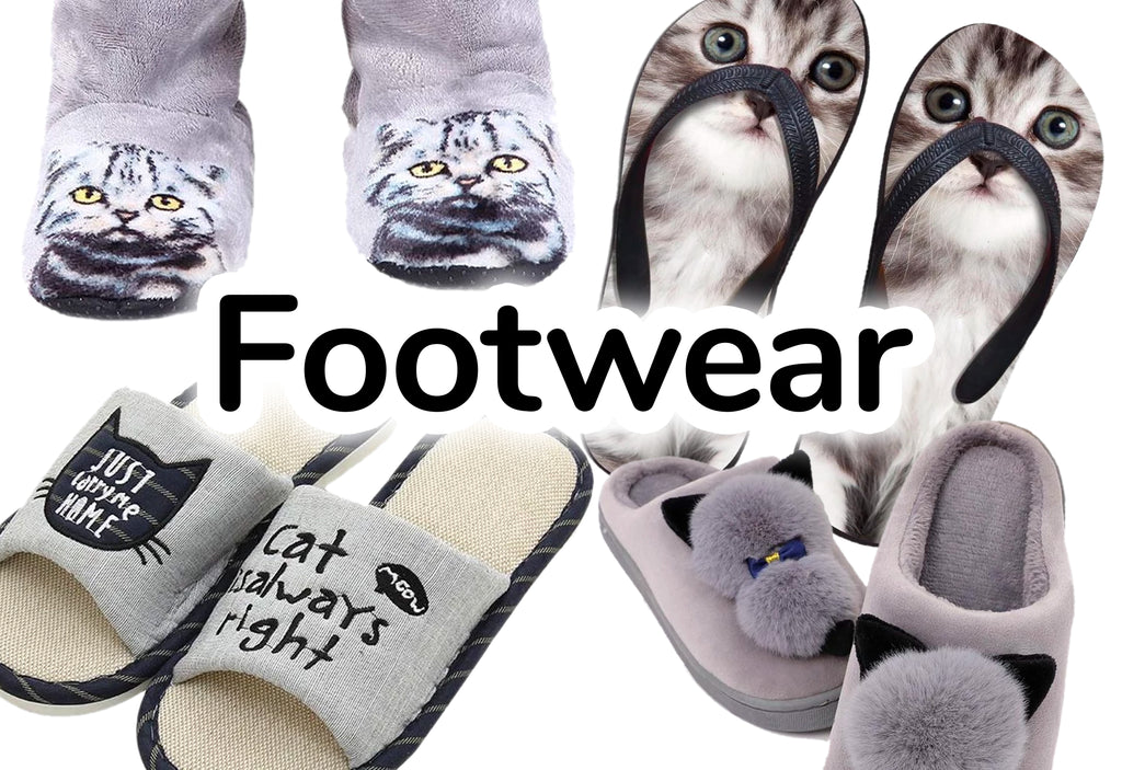 Footwear - Cat-Themed Shoes, Socks, and Slippers