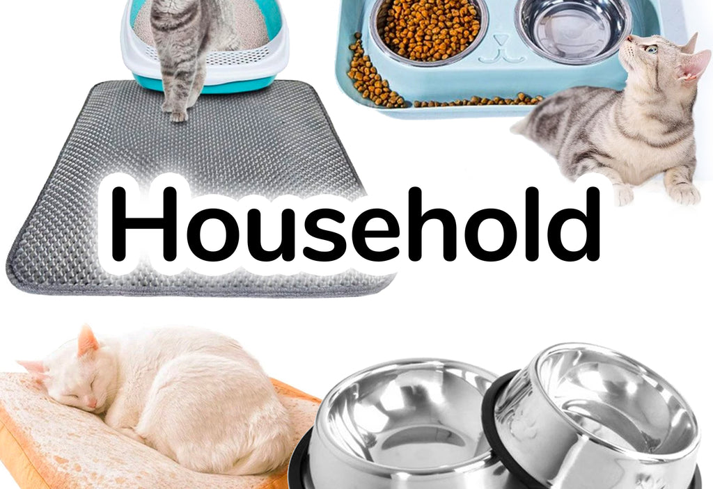 Water Food Dishes, Scratch Mats & Cat Bed - CatToyz
