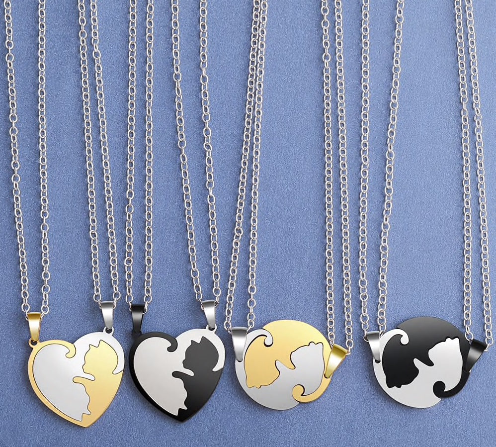 Yin/Yang Cat Pendant Puzzle Necklaces 2Pc  | CatToyz.com | Shop Cat Toys, Clothes, and Grooming Supplies