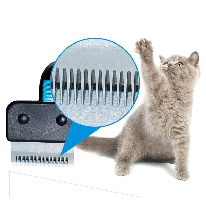 Deshedding Cat Hair Removal Comb  | CatToyz.com | Shop Cat Toys, Clothes, and Grooming Supplies