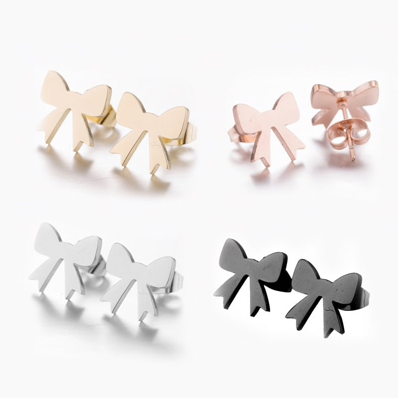 Elegant Stainless Steel Cat Earrings In Four Colors  | CatToyz.com | Shop Cat Toys, Clothes, and Grooming Supplies