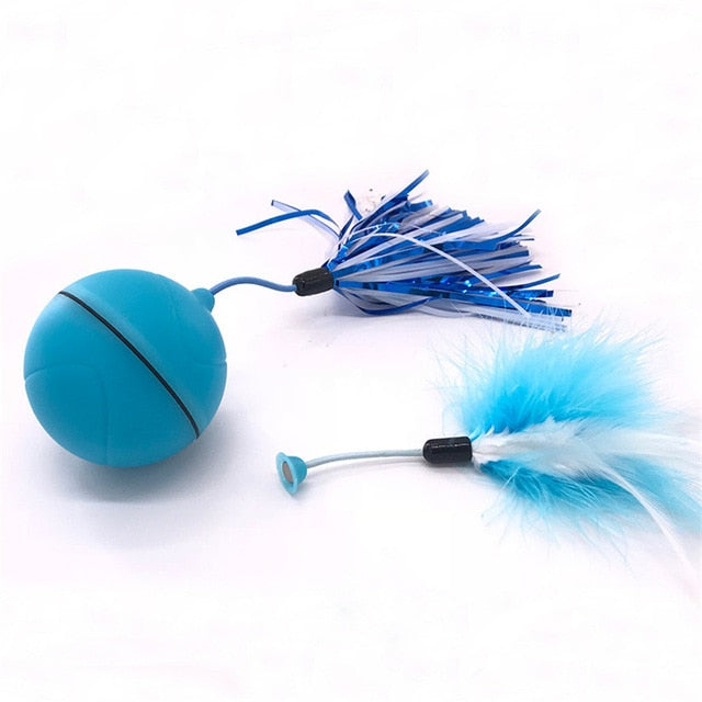 Automatic Rolling Ball for Cats ** As Seen on TV ** Blue-Charging style | CatToyz.com | Shop Cat Toys, Clothes, and Grooming Supplies