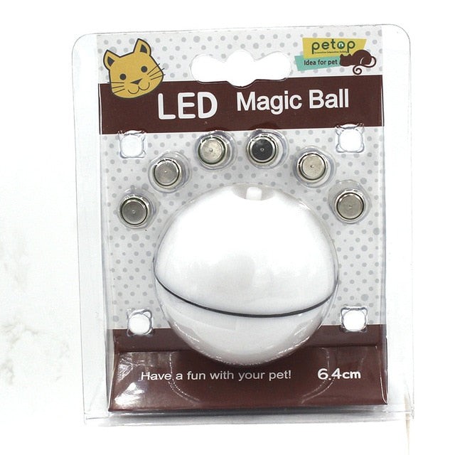 Automatic Rolling Ball for Cats ** As Seen on TV ** White-Button Battery | CatToyz.com | Shop Cat Toys, Clothes, and Grooming Supplies