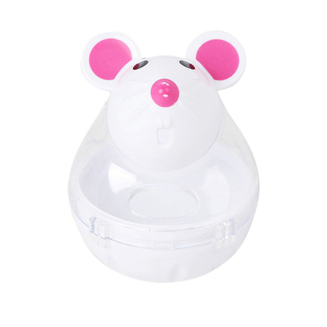 Cat Feeding Tumbler Toys - Food Ball - Mice, Water Droplet, or Bone Shapes White | CatToyz.com | Shop Cat Toys, Clothes, and Grooming Supplies