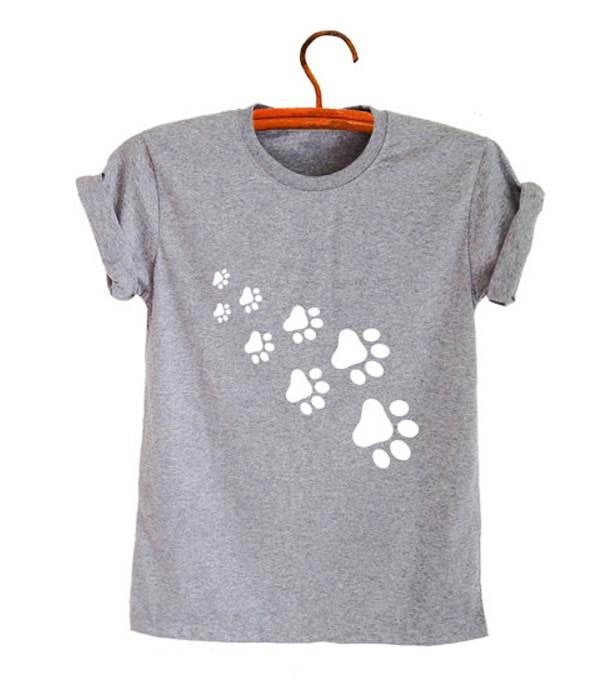 1-Paw Casual T-Shirt With Print  | CatToyz.com | Shop Cat Toys, Clothes, and Grooming Supplies