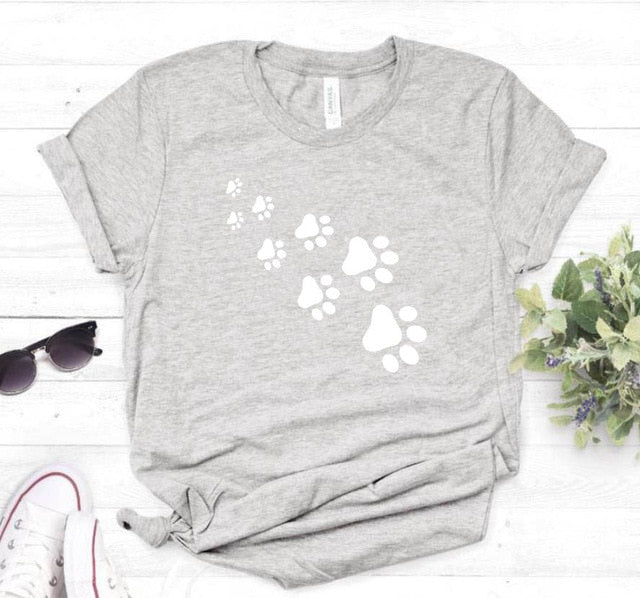 1-Paw Casual T-Shirt With Print Gray-White Print / XXXL | CatToyz.com | Shop Cat Toys, Clothes, and Grooming Supplies