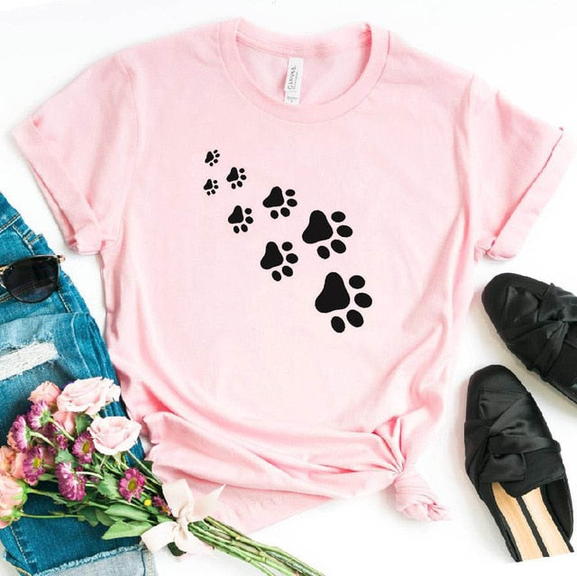 1-Paw Casual T-Shirt With Print Pink / XXXL | CatToyz.com | Shop Cat Toys, Clothes, and Grooming Supplies