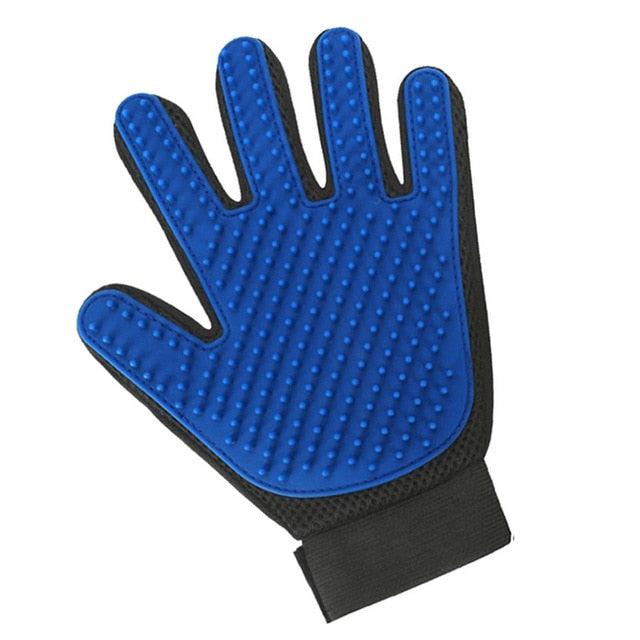 Cat Grooming Hair Removal Glove Multiple Colors Available! Blue Left Glove / 23x17x2cm | CatToyz.com | Shop Cat Toys, Clothes, and Grooming Supplies