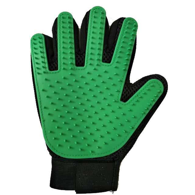 Cat Grooming Hair Removal Glove Multiple Colors Available! Green Right Glove / 23x17x2cm | CatToyz.com | Shop Cat Toys, Clothes, and Grooming Supplies