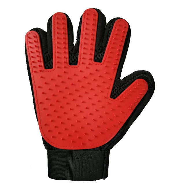 Cat Grooming Hair Removal Glove Multiple Colors Available! Red Right Glove / 23x17x2cm | CatToyz.com | Shop Cat Toys, Clothes, and Grooming Supplies