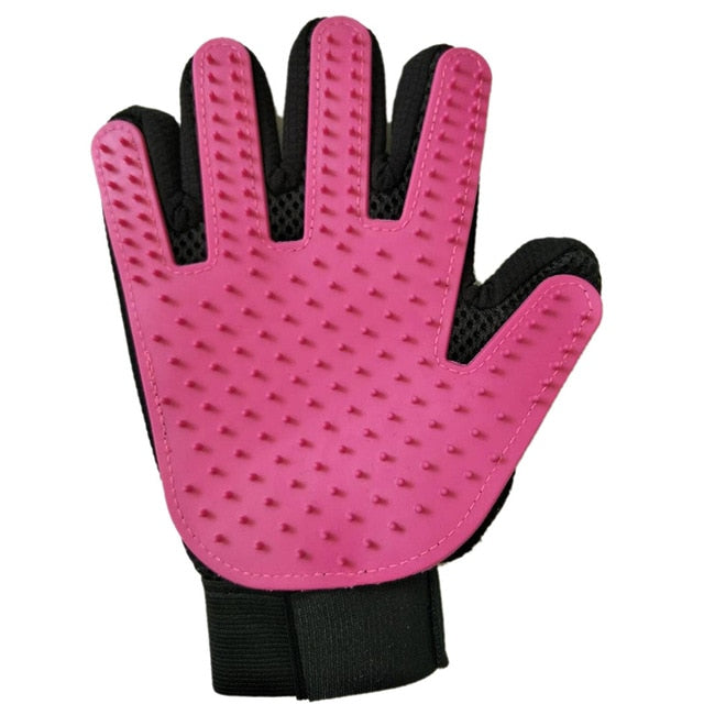 Cat Grooming Hair Removal Glove Multiple Colors Available! Purple Right Glove / 23x17x2cm | CatToyz.com | Shop Cat Toys, Clothes, and Grooming Supplies