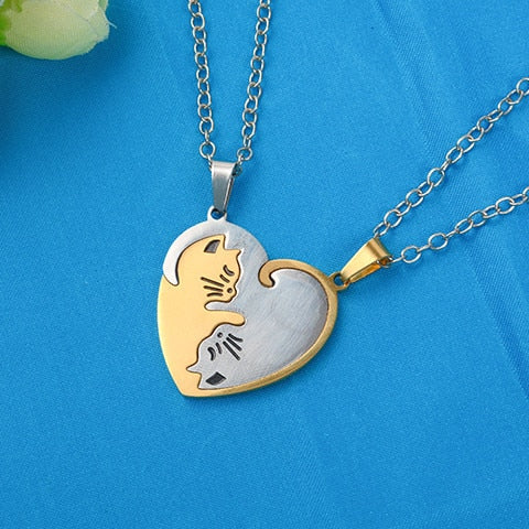 Yin/Yang Cat Pendant Puzzle Necklaces 2Pc Cat Necklace 1 | CatToyz.com | Shop Cat Toys, Clothes, and Grooming Supplies