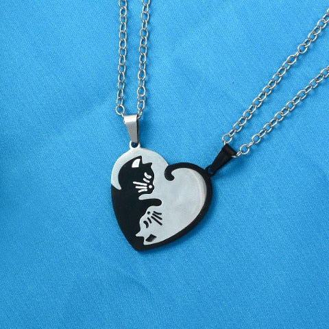 Yin/Yang Cat Pendant Puzzle Necklaces 2Pc Cat Necklace 3 | CatToyz.com | Shop Cat Toys, Clothes, and Grooming Supplies