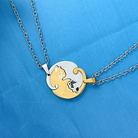 Yin/Yang Cat Pendant Puzzle Necklaces 2Pc Cat Necklace 5 | CatToyz.com | Shop Cat Toys, Clothes, and Grooming Supplies