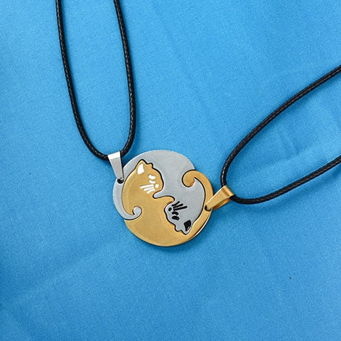 Yin/Yang Cat Pendant Puzzle Necklaces 2Pc Cat Necklace 6 | CatToyz.com | Shop Cat Toys, Clothes, and Grooming Supplies