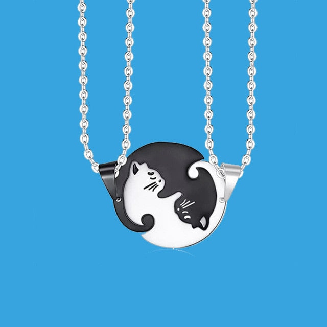 Yin/Yang Cat Pendant Puzzle Necklaces 2Pc Cat Necklace 8 | CatToyz.com | Shop Cat Toys, Clothes, and Grooming Supplies