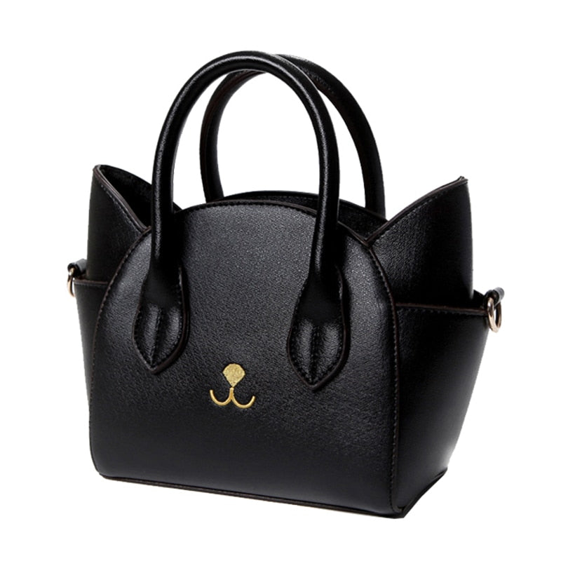 Elegant Artificial Leather Cat Face Hand Bag/Purse  | CatToyz.com | Shop Cat Toys, Clothes, and Grooming Supplies