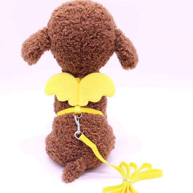 Angel Wings Harness For Cats Yellow / S | CatToyz.com | Shop Cat Toys, Clothes, and Grooming Supplies
