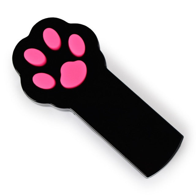 Paw Shaped LED Laser Pointer Toy For Cat Training & Play Black | CatToyz.com | Shop Cat Toys, Clothes, and Grooming Supplies