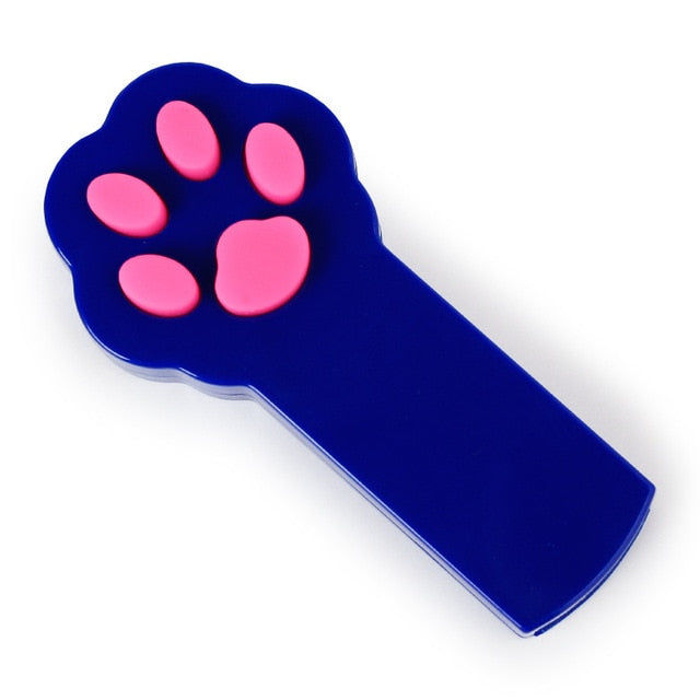 Paw Shaped LED Laser Pointer Toy For Cat Training & Play Blue | CatToyz.com | Shop Cat Toys, Clothes, and Grooming Supplies
