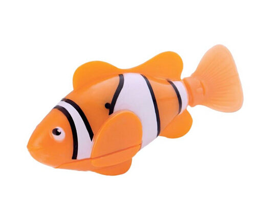 Battery-Powered Fish Cat Toy Clownfish Orange | CatToyz.com | Shop Cat Toys, Clothes, and Grooming Supplies