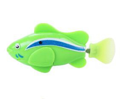 Battery-Powered Fish Cat Toy Clownfish Green | CatToyz.com | Shop Cat Toys, Clothes, and Grooming Supplies