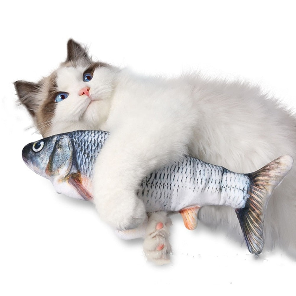 """Dancing Fish"""" Plush Moving Cat Toy! 